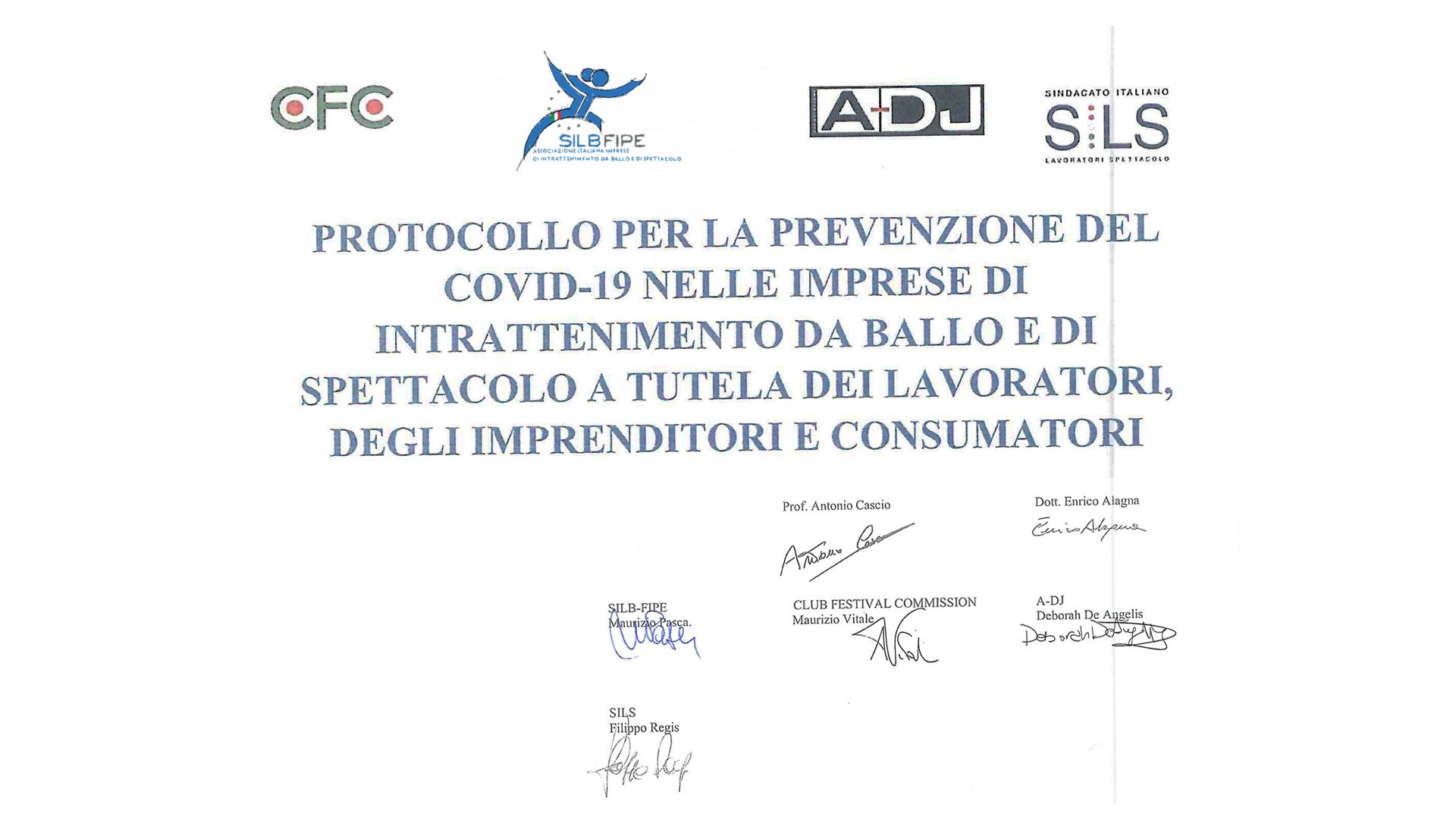 Un protocollo per riaprire le disco... ed il 13 aprile manifestazione a Roma